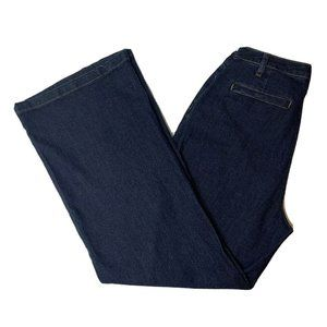 Modcloth Sailor Away Denim Jeans Size 12 Flare